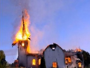 Muslim residents of Zanzibar set fire to a Christian church.