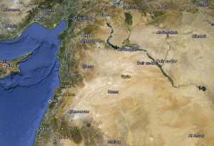 Syria (Map created using Google Earth)