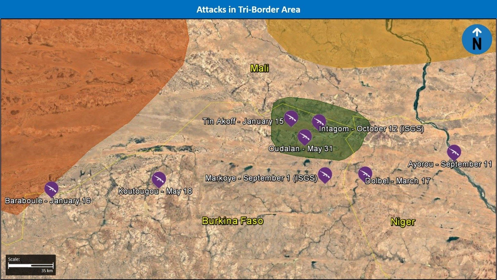Attacks in Tri-Border Area