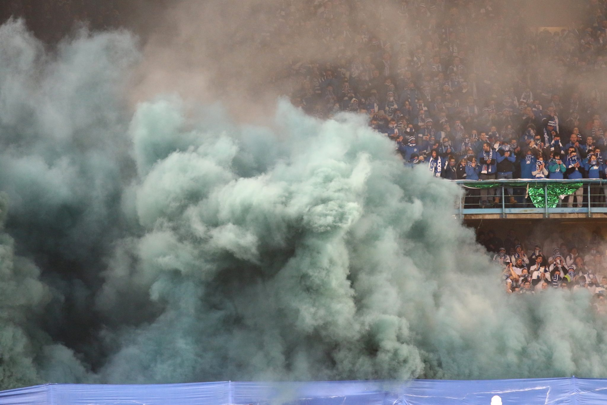 Smoke in Stadium - stadium security SHUTTERSTOCK