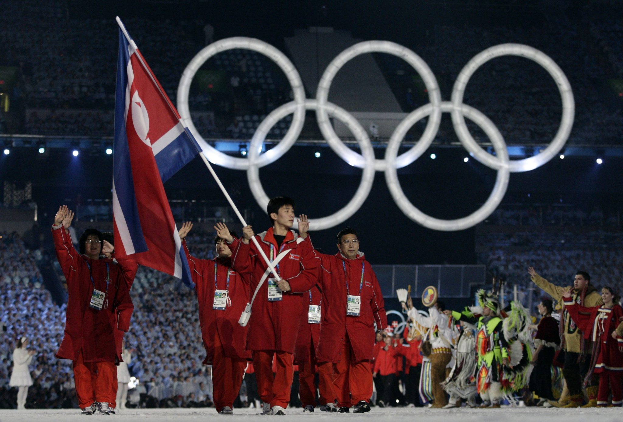 Most recent North Korean delegate to the Winter Olympics in 2010: Flag bearer Ri of North Korea leads his country's contingent during the opening ceremony of the Vancouver 2010 Winter Olympics | REUTERS