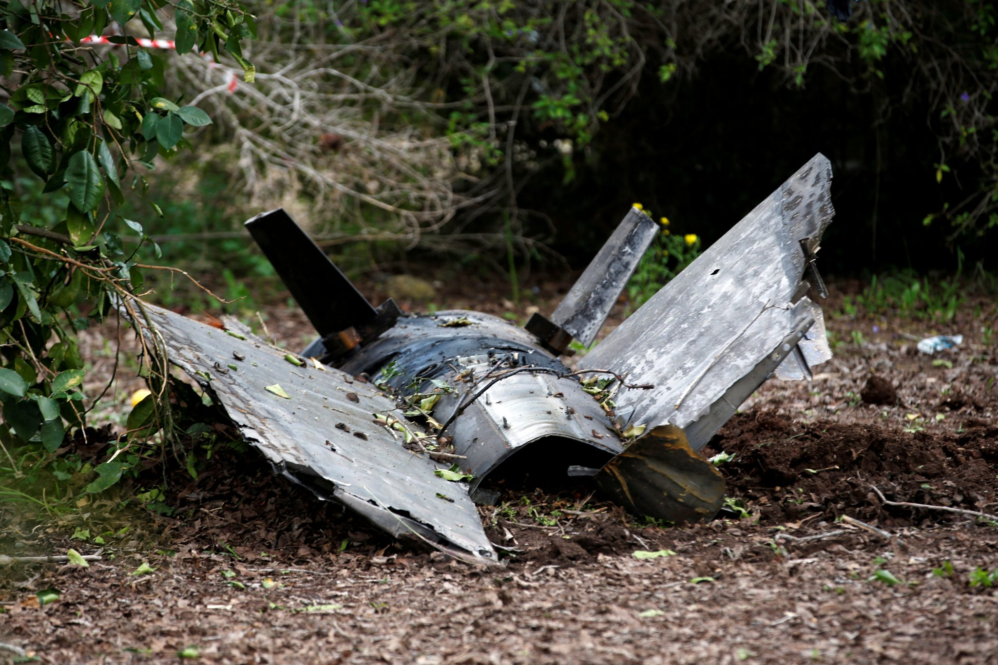 Israeli Air Force (IAF) targets Syrian air defense system, Iranian bases: Fragments of a Syrian anti-aircraft missile found in Alonei Abba, about 2 miles (3.2 km) from where the remains of a crashed F-16 Israeli war plane were found, at the village of Alonei Abba | REUTERS