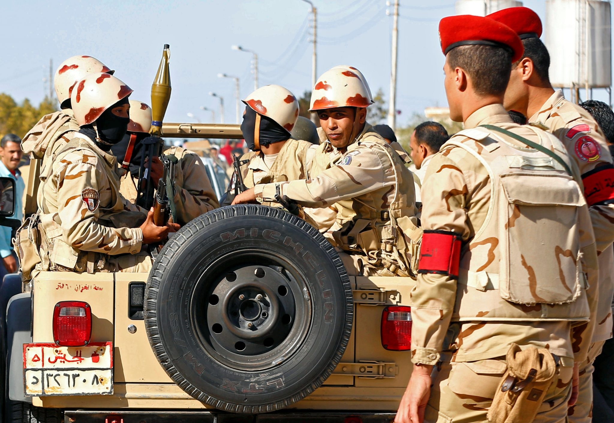 Egyptian military conducting counter-terrorism operations pre-national elections: Military forces look on in North Sinai | REUTERS