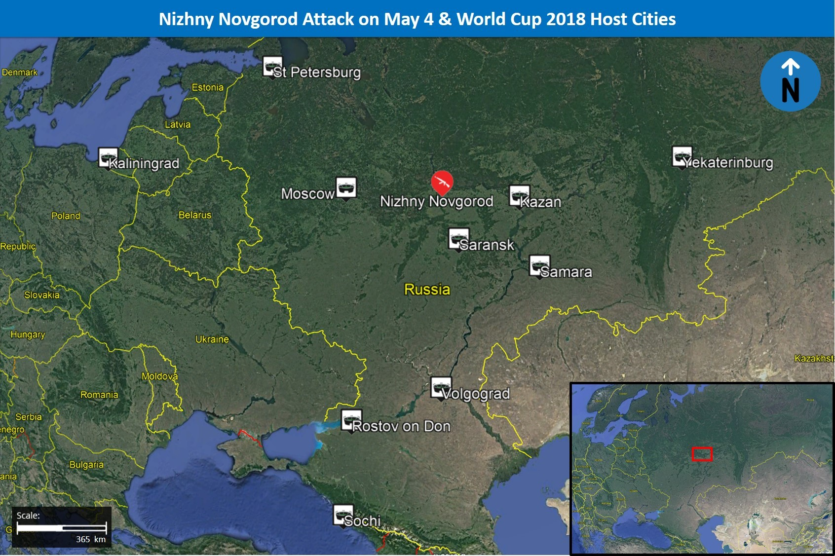 Islamic State-linked media reports shooting attack in Nizhny Novgorod on May 6; first 2018 Islamist militant attack in World Cup host city - Russia Analysis | MAX Security