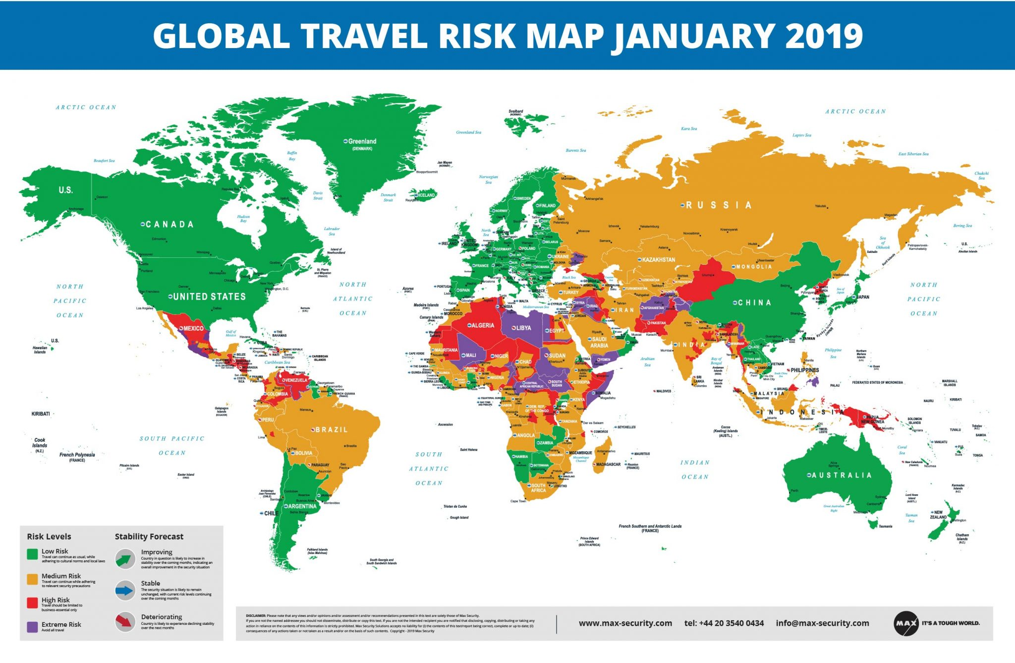 Global Travel Risk Map_January 2019