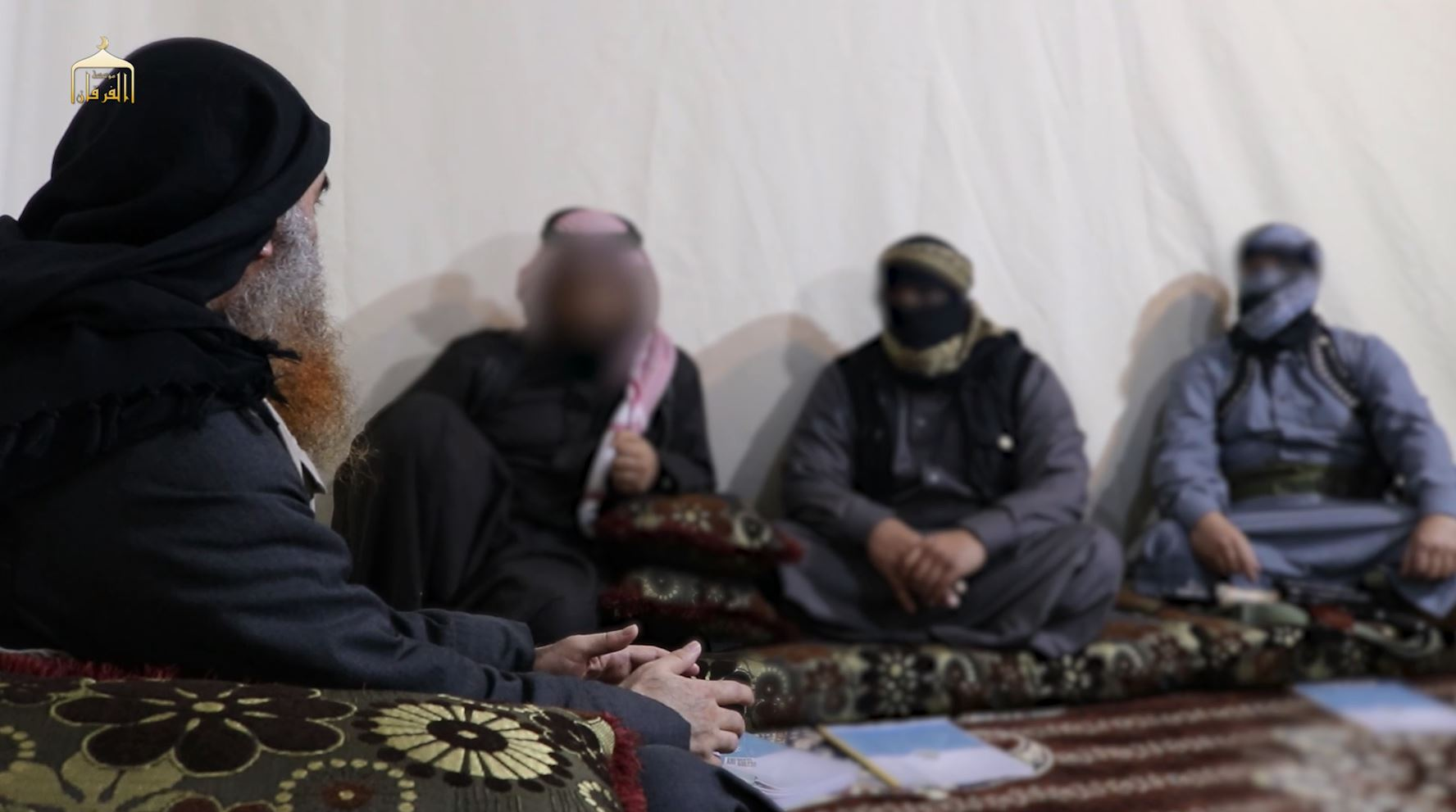Al-Baghdadi and the three companionsseen in the video