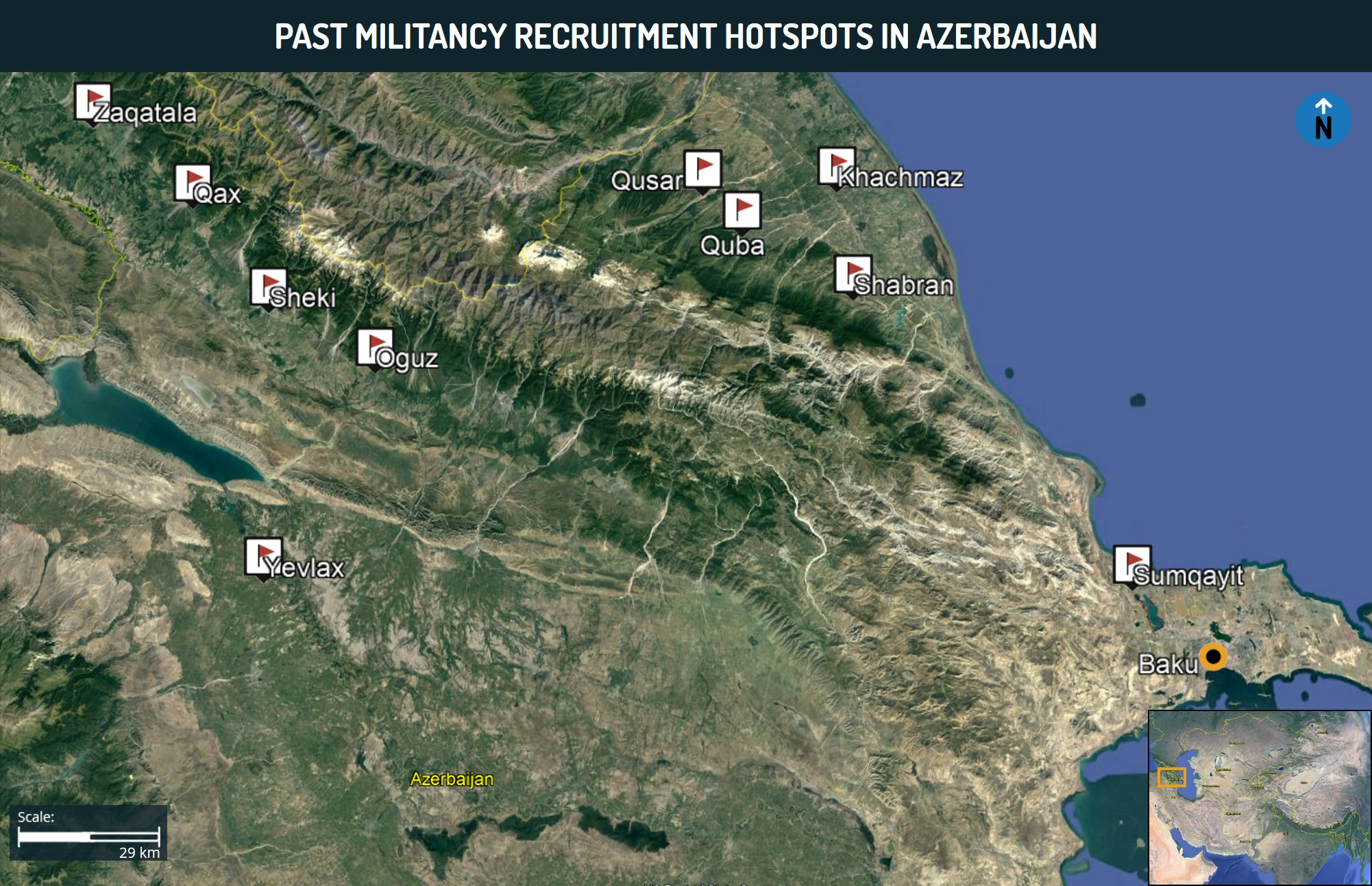 Past Militancy Recruitment Hotspots in Azerbaijan