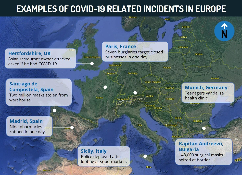 Europe COVID 19 Crime Map