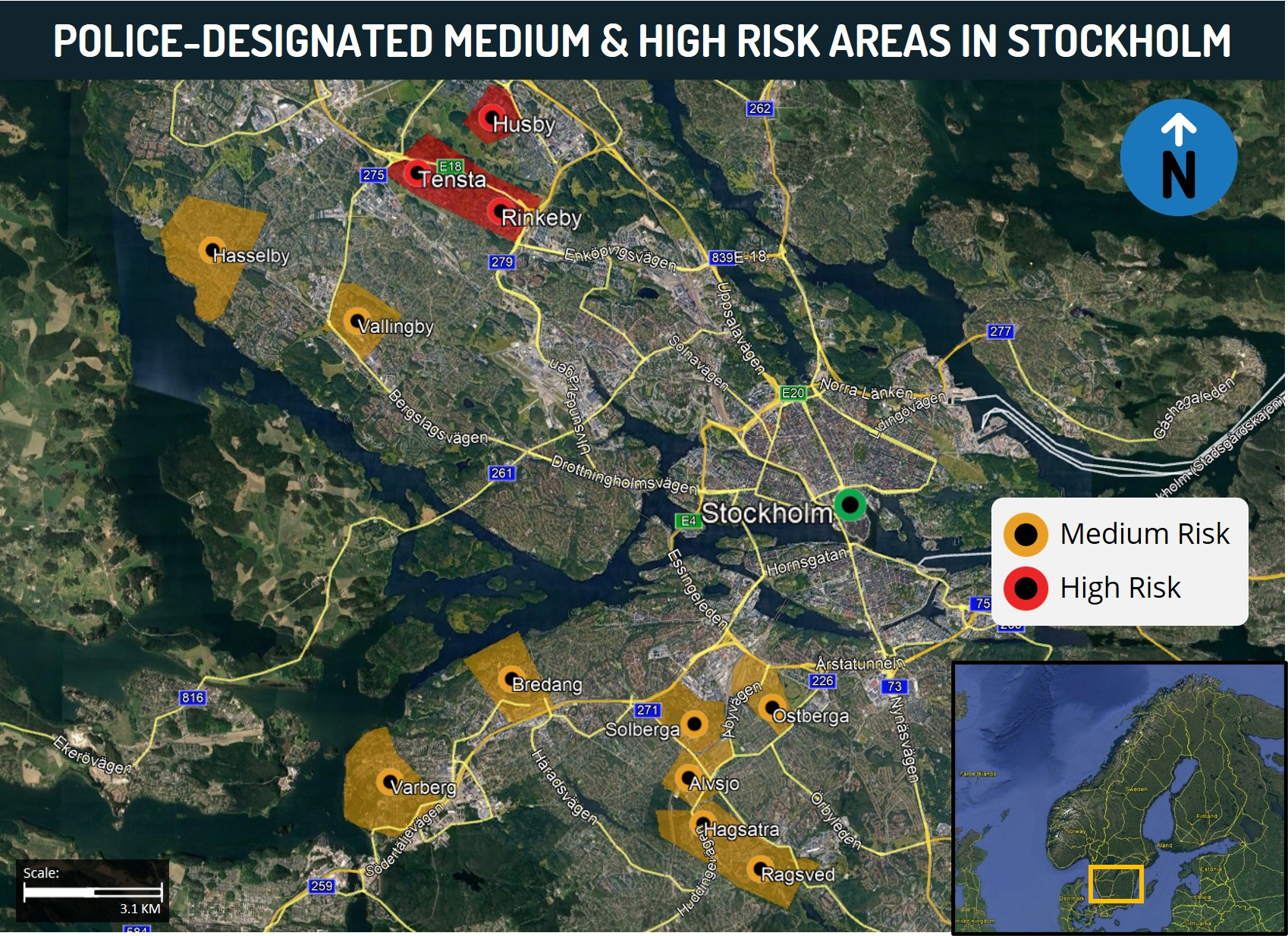 Stockholm Risk Map